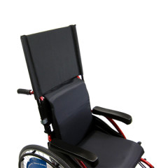 Black Wheelchair Backrest Extension Front Photo