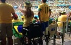 Brazil Police Probe Wheelchair-Bound Brazil Fans Standing At World Cup